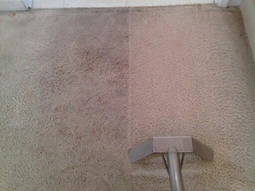 Cleaning process on dirty carpet in Stockbridge GA